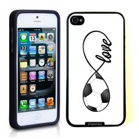 SudysAccessories Soccer Love Soccer Infinity Love Thinshell Case Protective iPhone 5 Case iPhone 5S Case