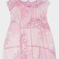 Young Versace Baroque Stripes Cotton Dress for Girls | US Online Store
