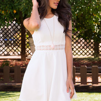 Something New Lace Dress - White