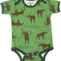 Amazon.com: Wild And Cozy by Hatley - Newborn And Infant Boys Short Sleeve One Piece Bodysuit, Green 27755-12-18Months: Clothing