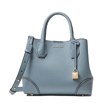 Mercer Gallery Small Pebbled Leather Satchel by MICHAEL Michael Kors