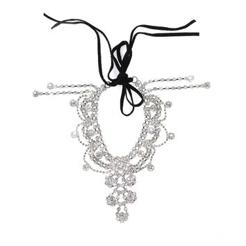 Draping Crystals Anklet