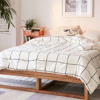 Wonky Grid Comforter Snooze Set | Urban Outfitters