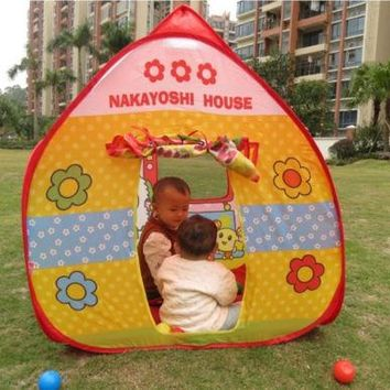 Game House with Puppy Pattern Oversized Tent for Playing House Triangle Tent