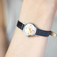 Small wristwatch for women's Glory, classic women watch vintage, minimalist girl watch, simple watch gift her, new premium leather strap