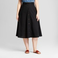 Women's Plus Size Midi Skirt - Universal Thread™ Black