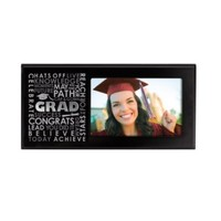 Prinz Top of The Class Black Wood Frame with Typography Design, 6 by 4-Inch