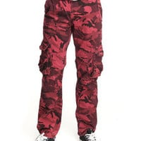Cargo Belted Camo Pants by Basic Essentials