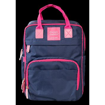 Simply Southern Preppy Classic Navy Backpack Bag