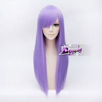Long Straight Purple Synthetic Women Lolita Party Wig Full Wigs = 1946020292