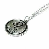 Leo Zodiac Necklace Astrology Symbol Necklace Horoscope Sign Necklace Unisex Necklace Charm Necklace Gift Under 20 Birthday Gift Idea