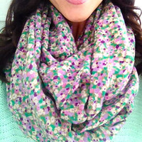 Spring Mint Love Infinity Scarf