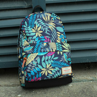 Sports Daypack Floral Pattern School Backpack Laptop Bag
