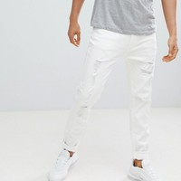 D-Struct Skinny Destroyed Ripped Jeans at asos.com