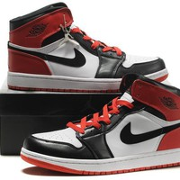 Beauty Ticks Big Size To Special You! Nike Air Jordan 1 Retro Aj1 Black/white/red Size Us 14 15 16