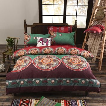 Bohemia Duvet Cover Set mandala printing Twin Full Queen King boho bedding sets bed sheet bedlinen