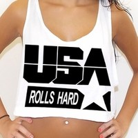 The Olympian rave inspired crop tank top