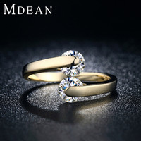18KGP Gold Plated Rings For Women Fashion engagement zirconia vintage Jewelry wedding bague Bijoux Accessories 18KR010