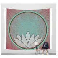 Lotus Mandala Tapestry Wall Hanging Art Meditation Yoga Buddha