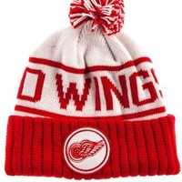 Mitchell & Ness Men's Detroit Red Wings High 5 Beanie One Size White