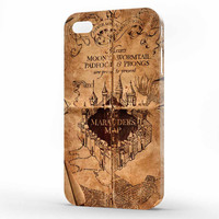 harry potter marauders map iPhone 4 | 4s Case, 3d printed IPhone case