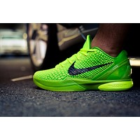 "Nike Kobe 6 Protro ""Grinch"" Green Apple/Volt/Crimson/Black Basketball Shoes"