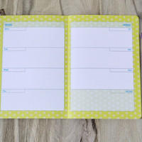 Weekly planner 2016 Agenda notebook Floral planner Goals planner Flowers diary To do list notebook Weekly diary Undated weekly daily planner