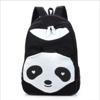 Cute cartoon panda canvas backpack bag