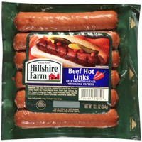 Hillshire Farm Beef Hot Links Beef Smoked Sausage with Chile Peppers, 12 count, 13.5 oz - Walmart.com