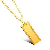 dongsheng Personalized Supremes Pendant Necklace Hip Hop Bar Brick Franco Jewelry Necklace Jewelry -30