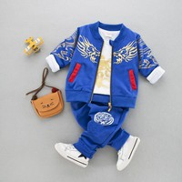 Kid Toddler Baby Boy Clothing Sports Suit Fashion Boys Clothes Kids Boy Clothing Set  Pants + Coat