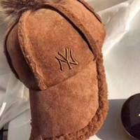 NY Lambs wool Embroidered Baseball Cap Hat
