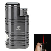 High Quality Windproof Torch Jet Flame Refillable Four Flame Lighter