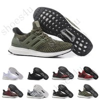 (With Box) Ultra Boost 3.0 Core Black real boost Mens and women Casual Shoes Running shoes for men sports ultraboost ronnie fieg Size 5-11