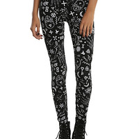 Black & White Mystic Print Leggings
