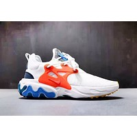 NIKE Presto React New fashion hook couple sports shoes White
