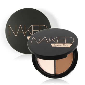 Professional Brand Makeup Two-Color Bronzer & Highlighter Powder Trimming Powder Make Up Cosmetic Face Concealer by Sugar Box