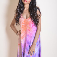 Sunset Tie Dye Mini Dress