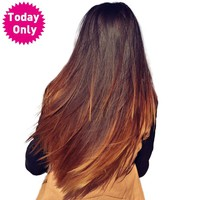 Ombre Brazilian Straight Hair Lace Closure With Baby Hair Two Tone Human Hair Bundles 1b 30 Non Remy Hair Extension