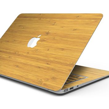 """Real Light Bamboo Wood - Skin Decal Wrap Kit Compatible with the Apple MacBook Pro, Pro with Touch Bar or Air (11"""", 12"""", 13"""", 15"""" & 16"""" - All Versions Available)"""