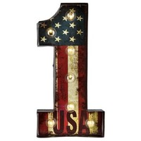Metal Number 1 Sign with American Flag & Lights | Shop Hobby Lobby