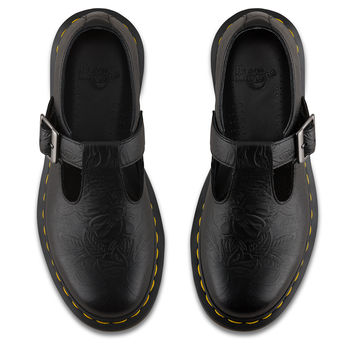 DR MARTENS POLLEY FLORAL EMBOSS