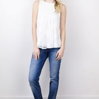 Pleated Front Swing Top