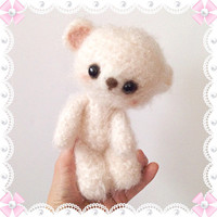 Amigurumi Bear Crochet Bear Crochet Crochet Doll Plush Stuffed Kids Toy Toy Bear Fuzzy Bear Kawaii Bear Holiday Gift Ideas