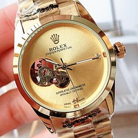 Rolex high-quality steel skeleton quartz watch