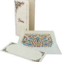Italian Florentia Long Portoflio Cards Stationery Set
