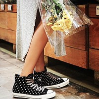 Converse Womens Polka Dot Hi Top Chucks