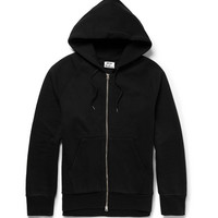 Acne Studios - Justin Zipped-Side Cotton-Jersey Hoodie | MR PORTER