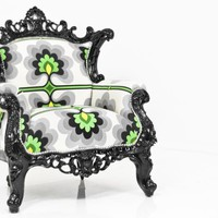 www.roomservicestore.com - Madison Chair in Green Floral Damask