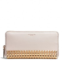 Coach :: LEGACY ACCORDION ZIP WALLET IN STUDDED LEATHER
